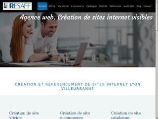 Agence web villeurbanne resaff site pro