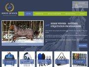 Logo materiel equitation horse winner