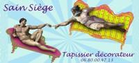 Logo sain siege artisan tapissier